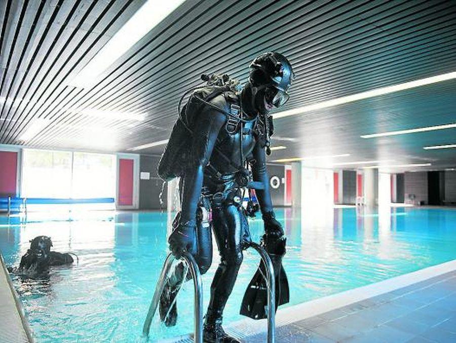 Entrenaments a la piscina del Complex Egara
