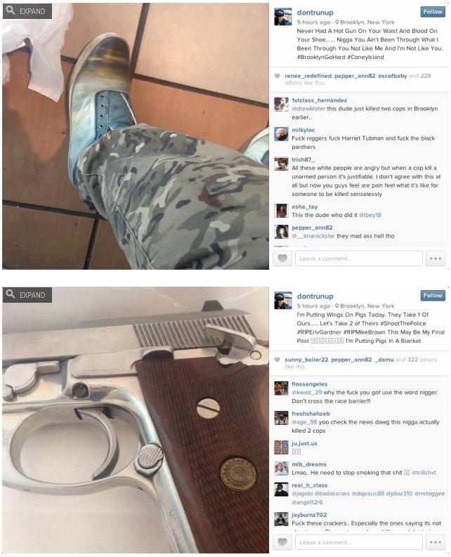 Captura del perfil instagram de l'assassí.