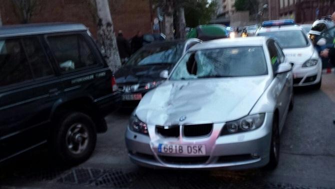 El vehicle, un cop interceptat a Barcelona.